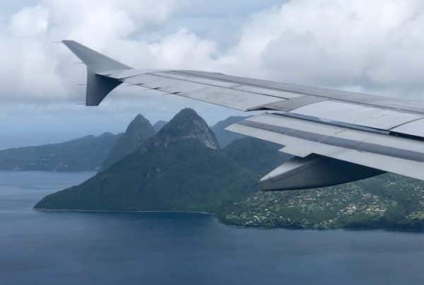 Arriving in Saint Lucia on JetBlue B6