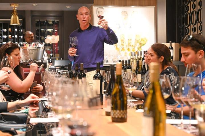 Michael Mondavi giving a private presentation in the Cellars wine bar