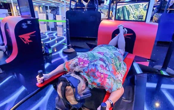 VR hang gliding at Galaxy Pavilion
