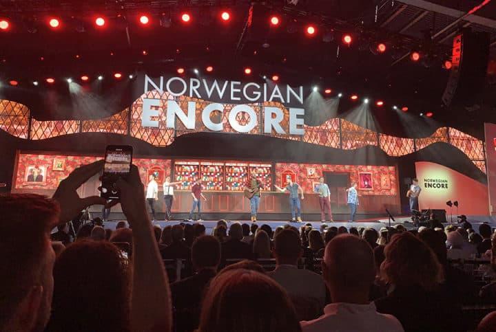 Norwegian Encore christening event in Port Miami