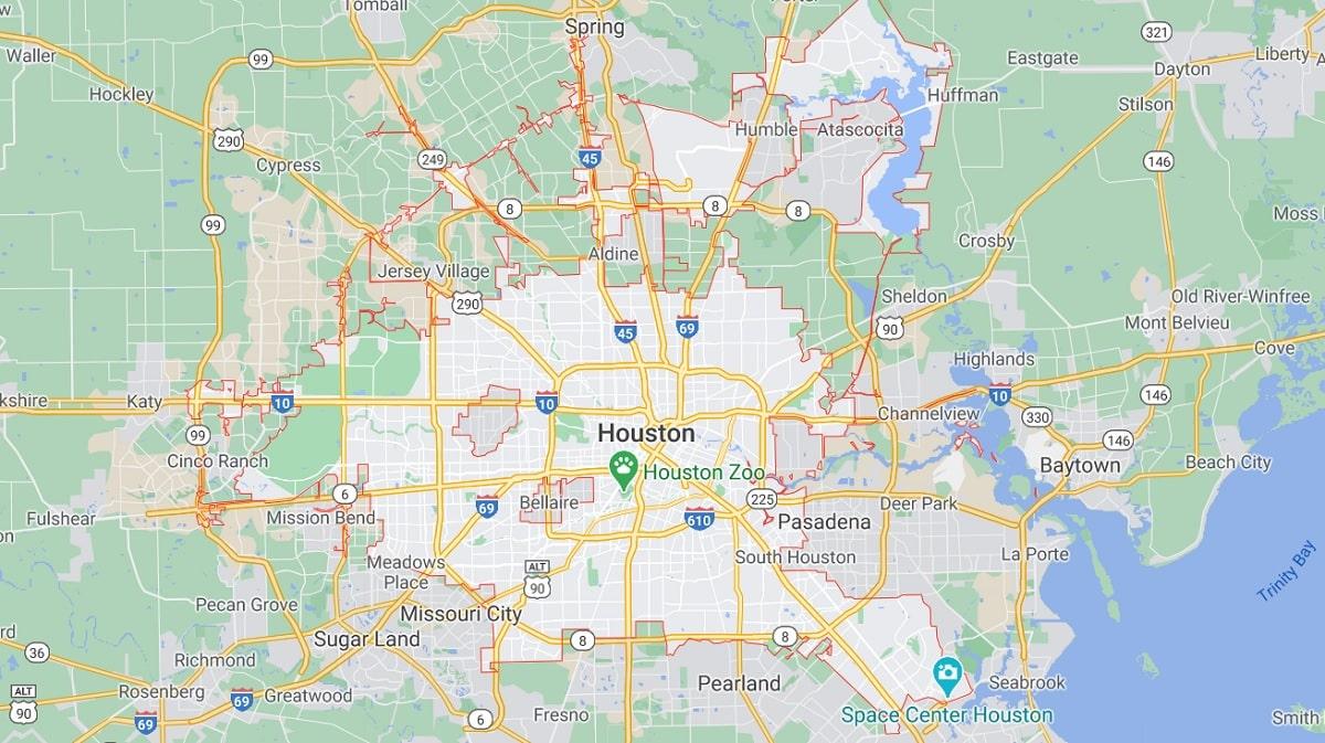 Houston TX Map